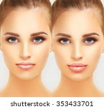 beauty injections.concept of... | Shutterstock . vector #353433701