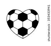 Soccer Ball Heart Isolated On...