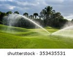 a florida golf green being... | Shutterstock . vector #353435531