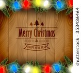 christmas card with pine tree...   Shutterstock .eps vector #353436464