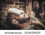 client during beard and... | Shutterstock . vector #353439635