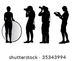 image of young photographers... | Shutterstock . vector #35343994