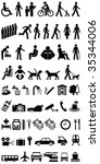 signage people and objects... | Shutterstock .eps vector #35344006