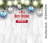 christmas card  blue and silver ...   Shutterstock .eps vector #353444294