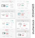 website template elements... | Shutterstock .eps vector #353445605