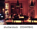 food in the restaurant  table ... | Shutterstock . vector #353449841