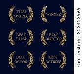 film awards and best nominee... | Shutterstock .eps vector #353453969