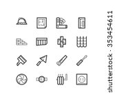 repair icons. repair and... | Shutterstock .eps vector #353454611
