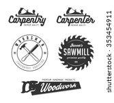 carpenter design elements in... | Shutterstock .eps vector #353454911