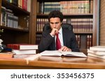portrait of a businessman... | Shutterstock . vector #353456375