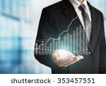 businessman with financial... | Shutterstock . vector #353457551