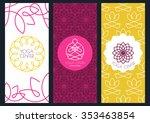 set of vector outline seamless...   Shutterstock .eps vector #353463854