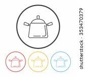 pot line icon | Shutterstock .eps vector #353470379