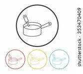 pot line icon | Shutterstock .eps vector #353470409