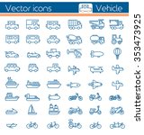 vehicle vector icons | Shutterstock .eps vector #353473925