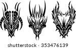Dragon Head Tattoo Three...
