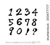 hand drawn alphabet   number... | Shutterstock .eps vector #353477777