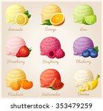 set of cartoon vector icons.... | Shutterstock .eps vector #353479259
