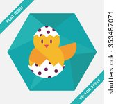 easter egg flat icon with long... | Shutterstock .eps vector #353487071