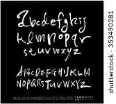 hand drawn alphabet   number... | Shutterstock .eps vector #353490281
