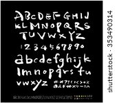hand drawn alphabet   number...   Shutterstock .eps vector #353490314