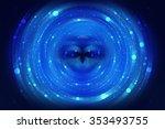 abstract fractal blue... | Shutterstock . vector #353493755