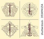musical instruments logotypes.... | Shutterstock .eps vector #353494154
