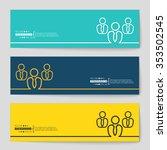 abstract creative concept... | Shutterstock .eps vector #353502545
