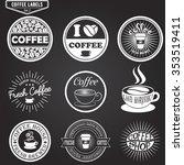 set of coffee labels  design... | Shutterstock . vector #353519411