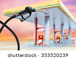 gasoline fuel nozzle | Shutterstock . vector #353520239