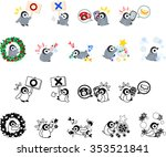 icons of cute penguin babies   Shutterstock .eps vector #353521841