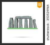stonehenge icon | Shutterstock .eps vector #353524964