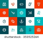 scuba diving icons. flat style | Shutterstock .eps vector #353525264
