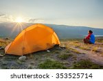 camping on the kungsleden  ... | Shutterstock . vector #353525714