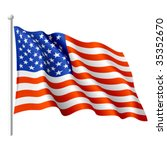 flag of the usa. vector. | Shutterstock .eps vector #35352670