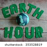 Earth Hour Letter In Green Yar...