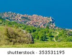 colorful old town malchesine ... | Shutterstock . vector #353531195