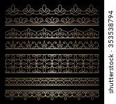 set of vintage gold ornamental... | Shutterstock .eps vector #353538794