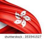 Hong Kong  Flag Of Silk With...
