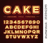 3d title font in cartoon style. ... | Shutterstock .eps vector #353542295