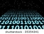 digital creation of binary code ... | Shutterstock . vector #35354341