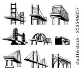 bridges in perspective vector... | Shutterstock .eps vector #353546057