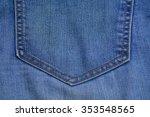 detail of the jean pocket | Shutterstock . vector #353548565