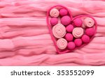 the contour of the heart as a... | Shutterstock . vector #353552099