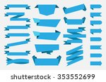 blue ribbons banners tags... | Shutterstock .eps vector #353552699