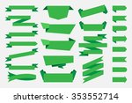 green ribbons banners tags... | Shutterstock .eps vector #353552714