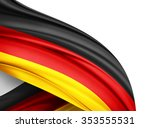 germany   flag of silk with... | Shutterstock . vector #353555531