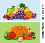 fruit and vegetables | Shutterstock .eps vector #353556179