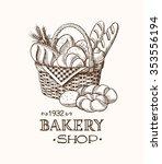bakery basket template | Shutterstock .eps vector #353556194