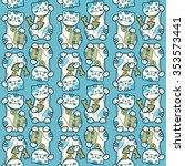 traditional japanese lucky cat... | Shutterstock .eps vector #353573441